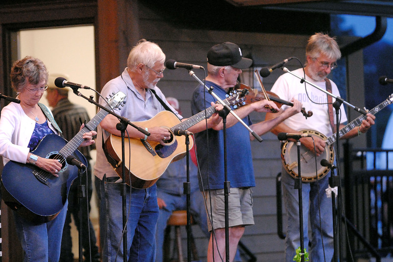 A band performs on the stage during the 78th Annual Old Fiddlers' Convention in Galax, VA on Friday, August 9, 2013. Copyright 2013 Jason Barnette