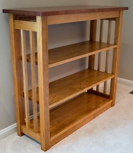 Cherry & Sepele Bookshelf & 2 Nightstands