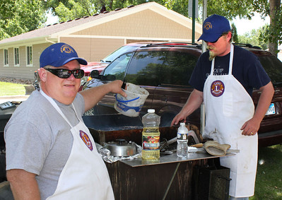 The quality of the product is directly related to the expertise of the cooks.  Lions Rick Walton and Rik Bartels were at the grill Saturday morning.
