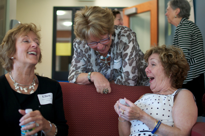 Ellen Coyne Leary, left, Maryellen Fleming Costello, center, and Patricia McCusker Bailey, right, all Class of 1962