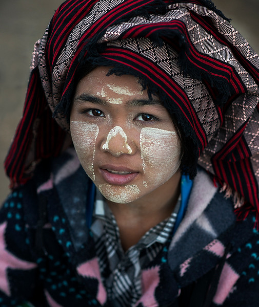 Portrait of a young woman.  Myanmar, 2017.