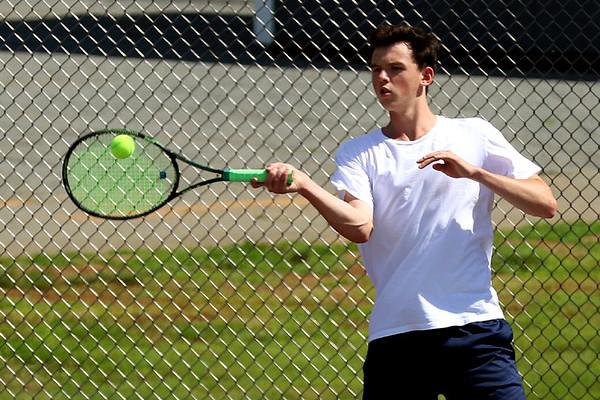 Western versus Riverside boys tennis state semi 2017