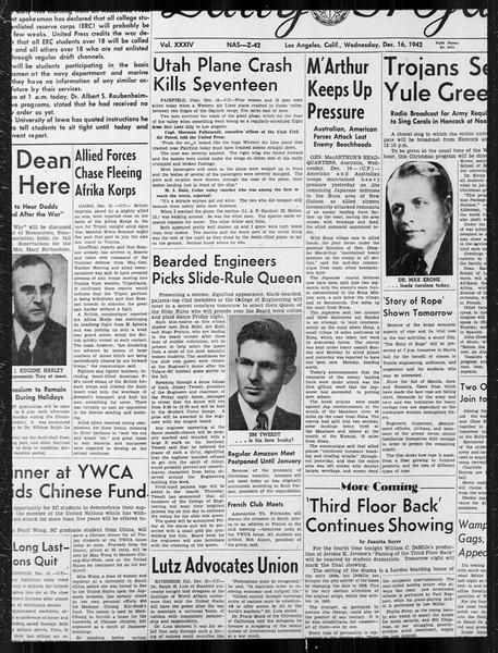 Daily Trojan, Vol. 34, No. 61, December 16, 1942