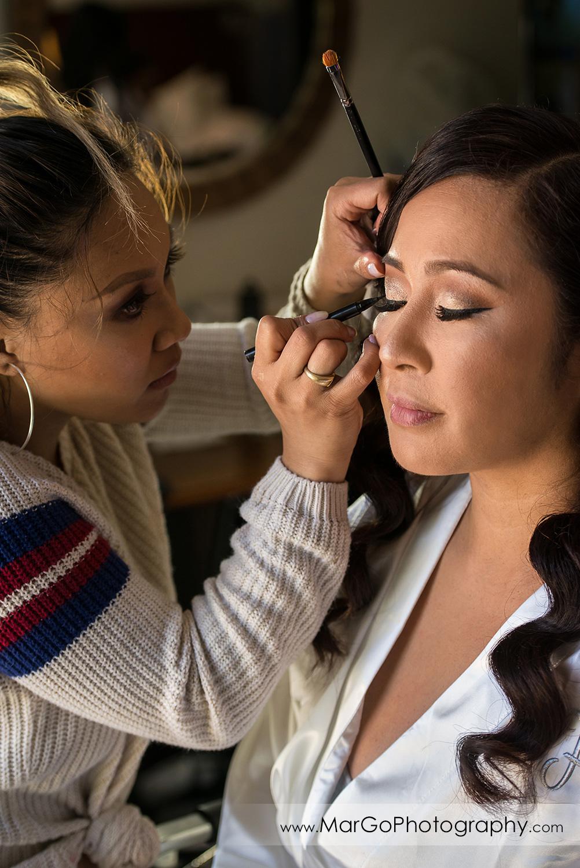 bridal makeup at Pleasanton Marriott