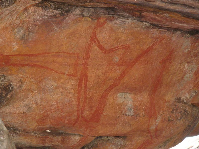 Some aboriginal rock paintings depict relatively 'recent' events!