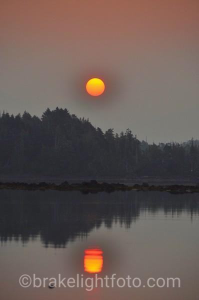 Sunrise in Higgins Passage