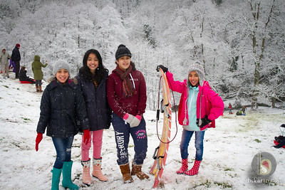 Hawarden Castle Dec Snow