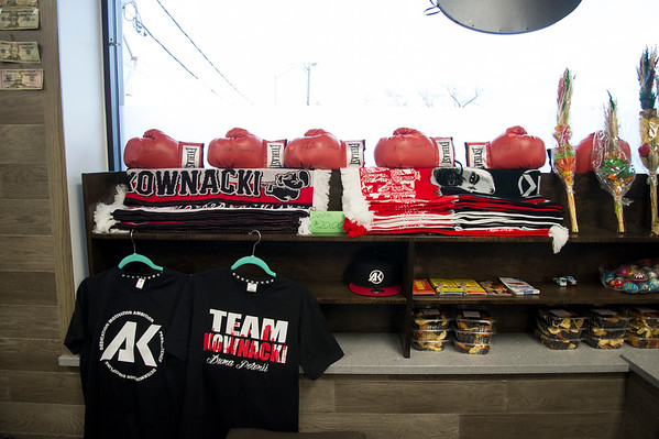 01/27/20 Wesley Bunnell | StaffrrPodlaise Meat Market held its ribbon cutting on Monday afternoon at its 188 High St. location. Boxing gloves for sale signed by current heavy weight boxer Adam &quote;Babyface&quote; Kownacki who is related to the owners.