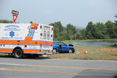 MOUNT SAINT MARY'S COLLEGE EMMITSBURG MARYLAND VEHICLE ACCIDENT 8-21-2011 BY COALREGIONFIRE