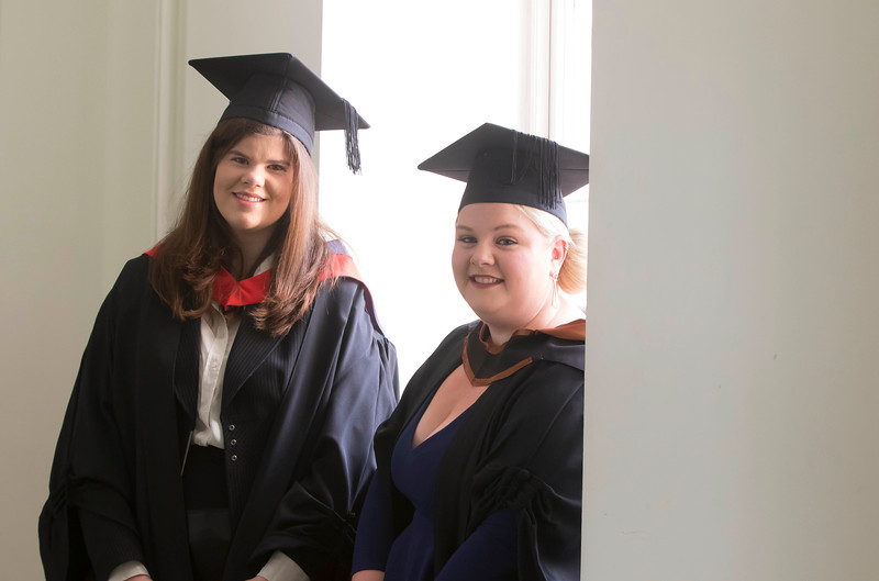 28/10/2015. Waterford Institute of Technology Conferring. Pictured are Elodie Christle, Dublin and Chloe Carroll, Kilkenny. Picture: Patrick Browne