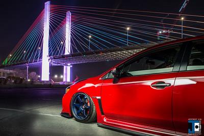 RAYS TE37 Mag Blue - Subaru STI Zee