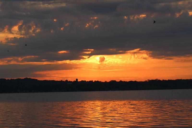 Sunrise and Clouds - Cayuga Lake