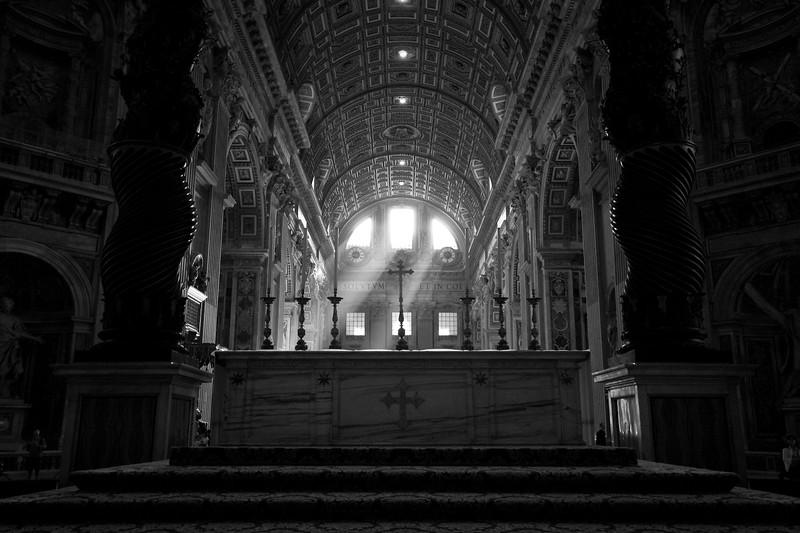 Morning Light Over The Altar