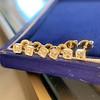 .78-.82ctw Asscher Stud Earrings, in Yellow Gold 9