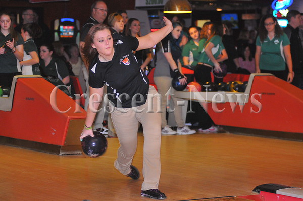 02-13-16 Girls sectional bowling at Napoleon