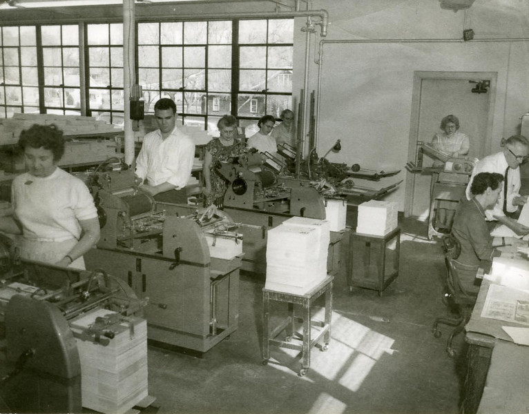 Amelia on far right- doing clerical work at Foot-so-Port, about 1960
