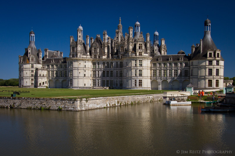 Chateau Chambord - (aka the King's little hunting lodge). Around 440 rooms, with 365 fireplaces. Required thousands of staff to prepare for every Royal visit.