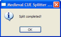 CUE Split Completed