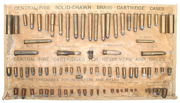 Eley Cartridge Board with Pinfires on it