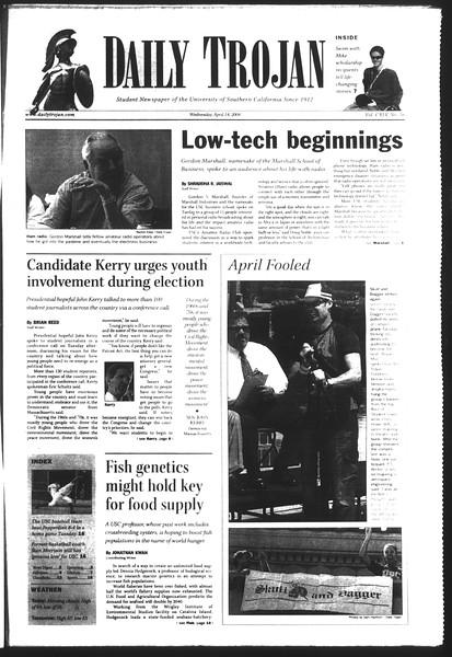 Daily Trojan, Vol. 151, No. 56, April 14, 2004
