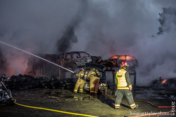 Multiple structure/car fires, Three Mile Plains, Oct. 8, 2019