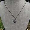 1.63ctw Edwardian Diamond Pave Heart Pendant 1