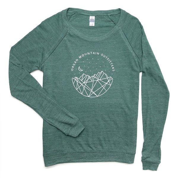 Outdoor Apparel - Organ Mountain Outfitters - Womens - Astro Nights Slouchy Pullover Green.jpg
