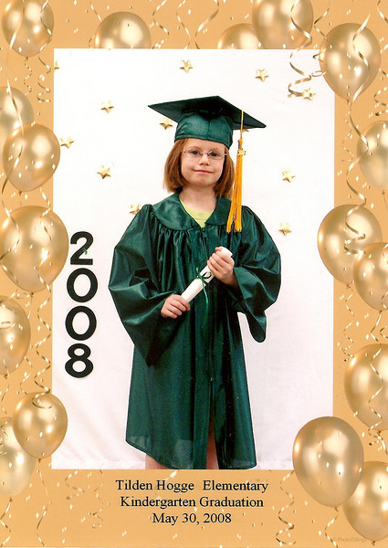 Kindergarten graduation. I love the tassle::head size ratio.