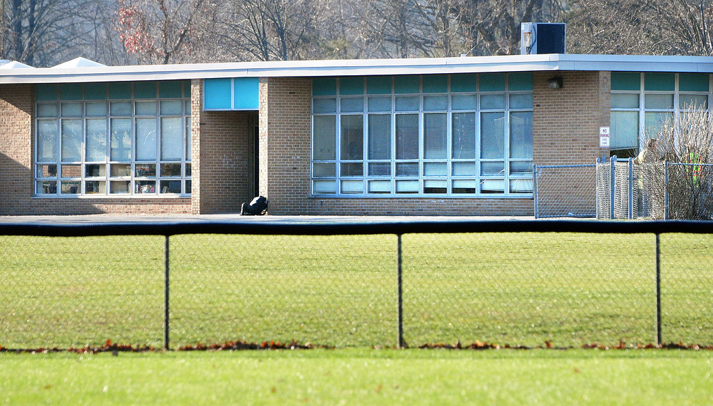 . The side of Sandy Hook Elementary School photographed Friday afternoon 12/14/2012. Photo by Arnold Gold/New Haven Register