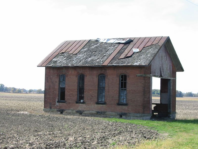 Schoolhouse--Monnett-New Winchester Rd.--Rural Bucyrus, OH