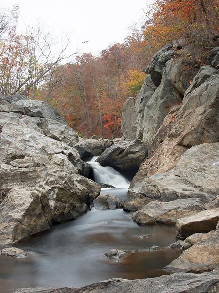 the big falls  Difficult Run Fairfax County, VA October 2012