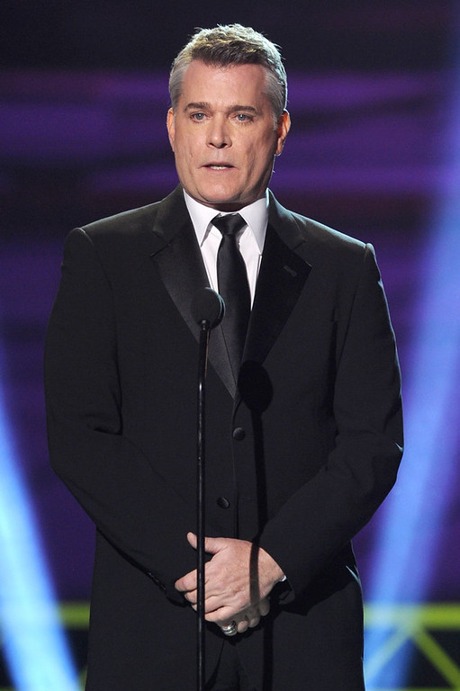 . Presenter Ray Liotta speaks onstage at the 18th Annual Critics\' Choice Movie Awards held at Barker Hangar on January 10, 2013 in Santa Monica, California.  (Photo by Kevin Winter/Getty Images)