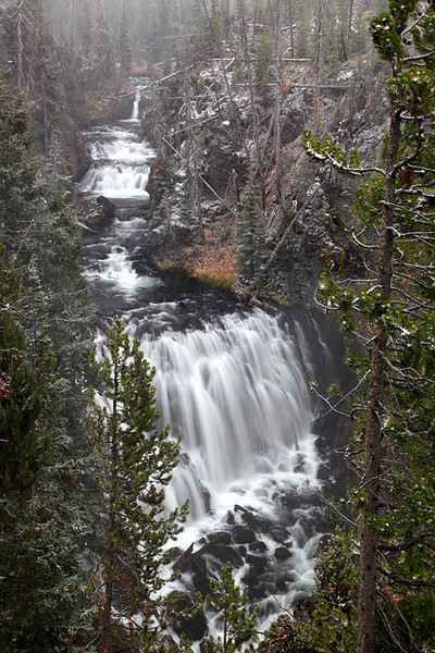 Winter's Touch - Kepler Cascades (Yellowstone National Park)