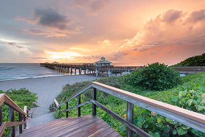 Clearing storm at the Juno Beach Pier