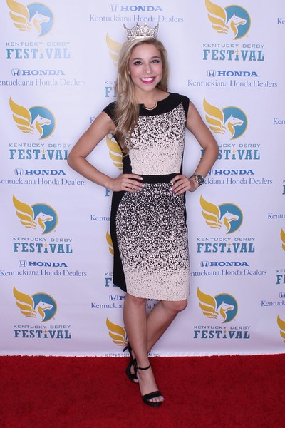 Miss America 2015 Kira Kazantsev at the KDF Celebrity Luncheon at Churchill Downs.