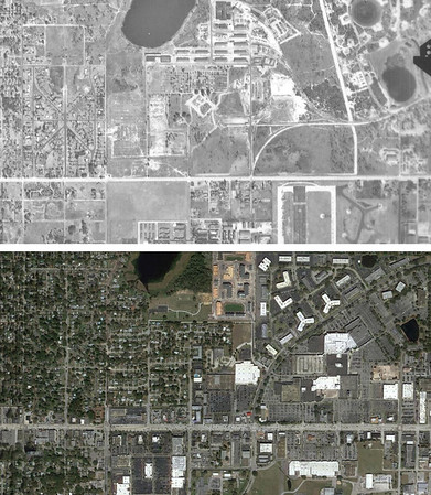 Orlando 1947 and 2016 Aerials