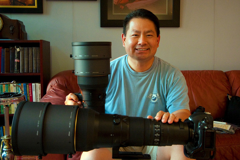 Cly got to handle some fancy lenses