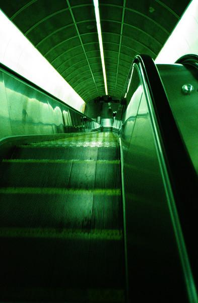 Escalator, Vancouver, BC, Canada.