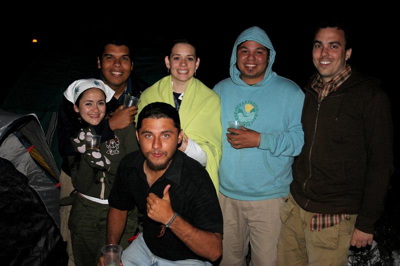 camping amigos.. lupita, miguel, kukulcan, cristi, hector y yo