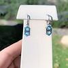 4.20ctw Blue Zircon Dangle Earrings 1