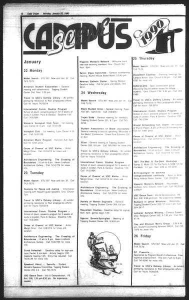 Daily Trojan, Vol. 111, No. 7, January 22, 1990