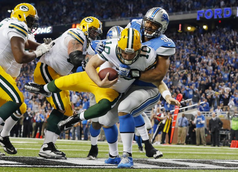". <p>3. (tie) GREEN BAY PACKERS <p>Over past month, they�re three games worse than the freaking Jacksonville Jaguars. Enough said. (unranked) <p><b><a href=\'http://www.twincities.com/sports/ci_24619857/detroit-lions-beat-stuffing-out-green-bay-packers\' target=""_blank\""> HUH?</a></b> <p>   (AP Photo/Paul Sancya)"
