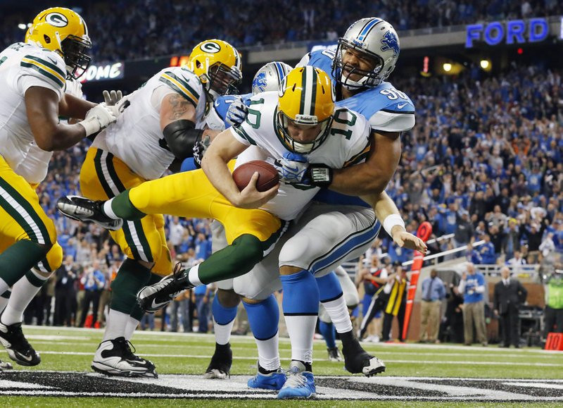 """. <p>3. (tie) GREEN BAY PACKERS <p>Over past month, they�re three games worse than the freaking Jacksonville Jaguars. Enough said. (unranked) <p><b><a href=\'http://www.twincities.com/sports/ci_24619857/detroit-lions-beat-stuffing-out-green-bay-packers\' target=\""""_blank\""""> HUH?</a></b> <p>   (AP Photo/Paul Sancya)"""