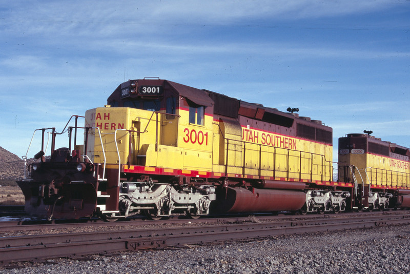 Utah Southern SD40-2 3001. Iron Springs, Utah. December 29, 2011. <i>(Robert Lehmuth Photo)</i>
