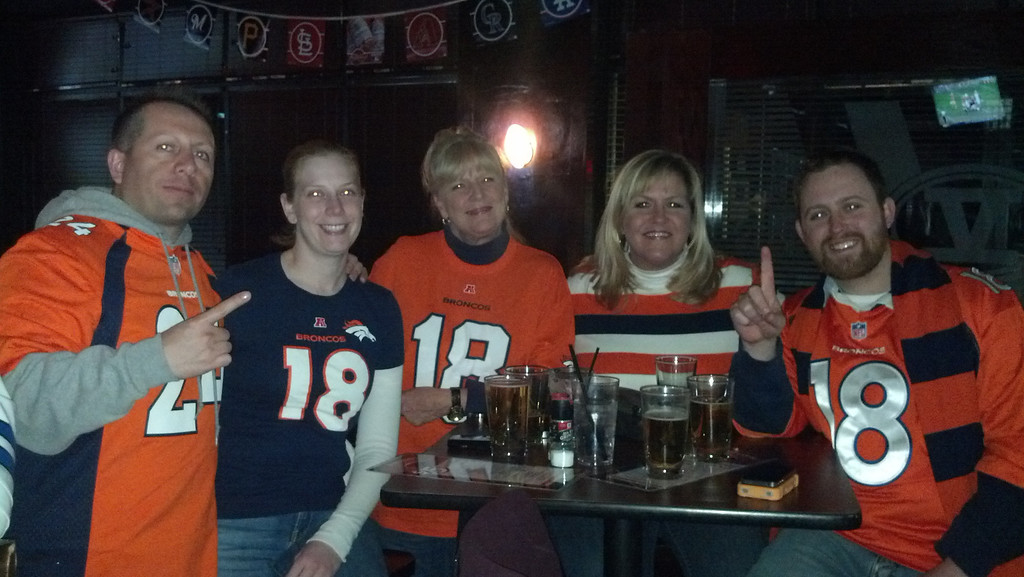 . V5 Broncos We were in the stands all last season...now at a bar (Velocity 5) in Sterling,VA! United in Orange. Adam