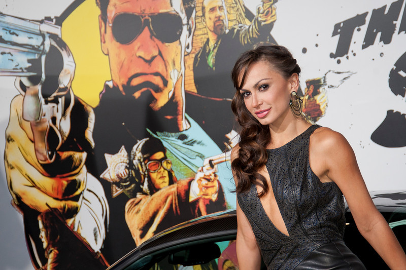 HOLLYWOOD, CA - JANUARY 14: Karina Smirnoff arrives at the premiere of Lionsgate Films' 'The Last Stand' at Grauman's Chinese Theatre on Monday, January 14, 2013 in Hollywood, California. (Photo by Tom Sorensen/Moovieboy Pictures)