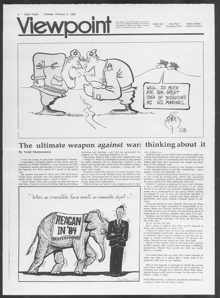 Daily Trojan, Vol. 93, No. 20, February 08, 1983