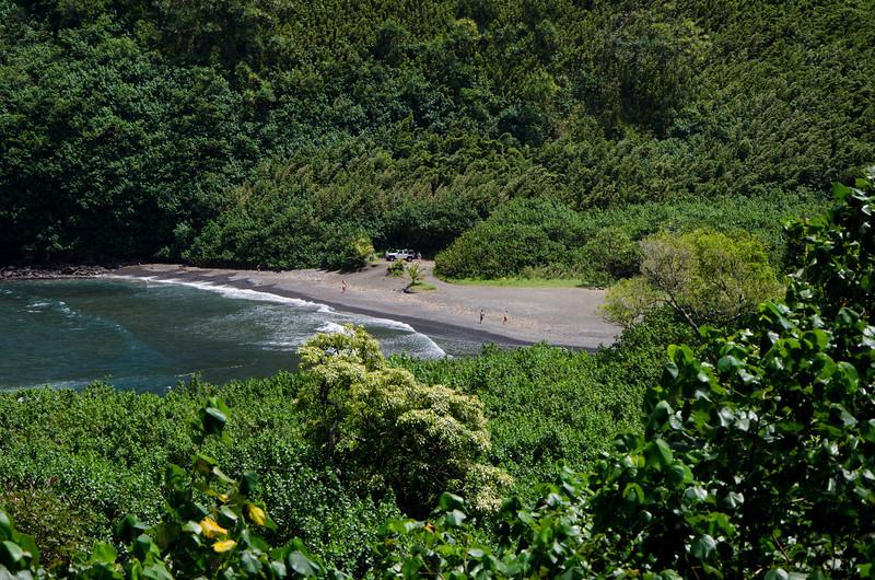 Road to Hana Black Sand Beach Maui