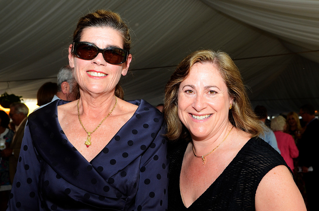. Erica Miller @togianphotog - The Saratogian:     Tuesday evening at the Saratoga Polo Field grounds Skidmore held the Palamountain Scholarship Benefit Dinner. In attendance were (l-r) Sarah Loughran and Karen Schick.