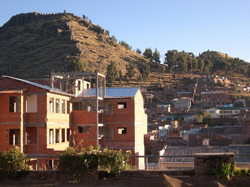 Building under construction.: We saw a lot of unfinished buildings in Bolivia.